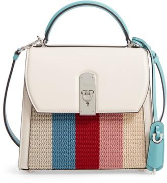 Salvatore Ferragamo Medium Boxyz Leather & Knit Satchel