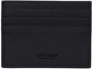 Giorgio Armani Navy Leather Card Holder
