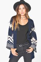 Boohoo Sophie Kimono Sleeve Aztec Cardigan