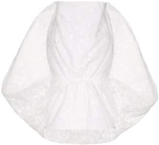 Rosie Assoulin cowl-neck cape blouse
