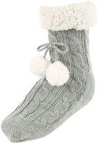 Jane Norman Grey Super Soft Slipper Socks
