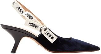 Christian Dior Navy Velvet Heels