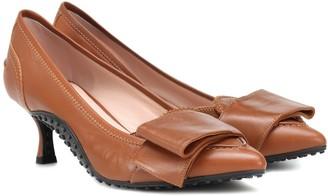 Tod's X Alessandro Dell'Acqua leather pumps