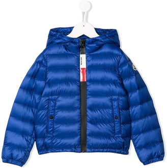 Moncler Enfant Quilted Logo Embroidered Jacket