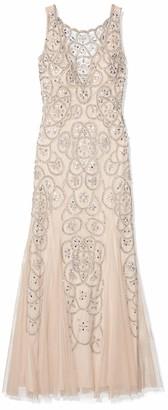 Aidan Mattox Aidan Women's Beaded Illusion Gown