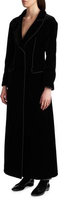 Giorgio Armani Velvet Maxi Coat