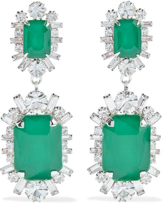 Elizabeth Cole Piper Rhodium-plated Swarovski Crystal Earrings