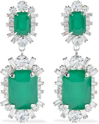 Elizabeth Cole Piper Rhodium-plated Swarovski Crystal Earrings
