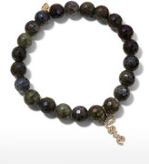 Sydney Evan Coated Labradorite Bead Bracelet w/ Love Charm