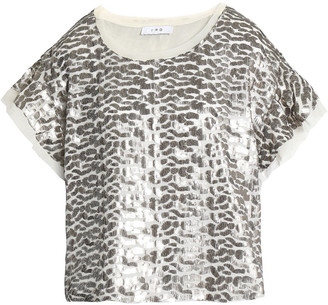 IRO Sequined Gauze Top