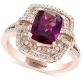 Effy Final Call by Rhodolite Garnet (2-1/2 ct. t.w.) & Diamond (3/8 ct. t.w.) Ring in 14k Rose Gold