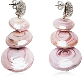 Antica Murrina Veneziana Monete 1 Pastel & Transparent Light Pink Murano Glass Earrings