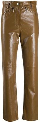 ALEXACHUNG High-Waisted Straight Leg Trousers