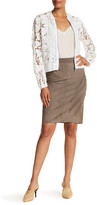 Elie Tahari Haley Genuine Lamb Suede Skirt