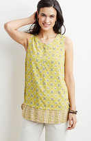 J. Jill Medallion Mixed-Print Sleeveless Top