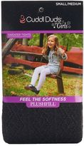 Cuddl Duds Girls 4-16 Diamond Texture Sweater Tights