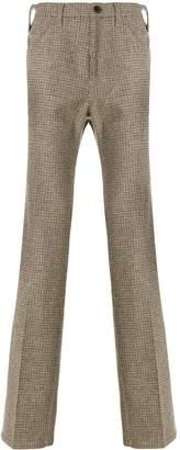 Prada checked tweed trousers