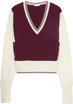Chloé Two-tone Cashmere Sweater - Burgundy