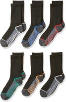 Fruit of the Loom Big Boy's 6 Pack Dotted Crew Socks