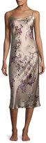 Natori Pandora Floral-Print Silk Nightgown