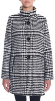 Novelti Herringbone A-Line Wool-Blend Coat