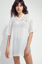 Silence & Noise Silence + Noise Sheer Sporty Jersey Top