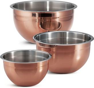 Tramontina 3-pc. Copper Clad Mixing Bowl Set
