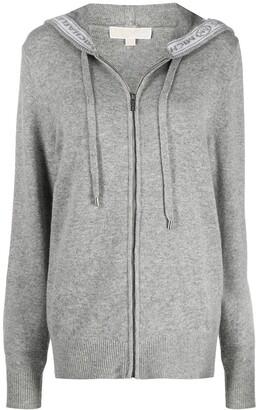 MICHAEL Michael Kors Zip-Through Hooded Sweater