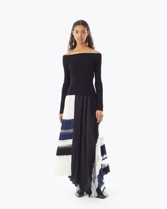 3.1 Phillip Lim Pleated Dress With Rib Knit Top
