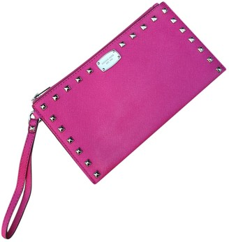 Michael Kors Pink Metal Clutch bags