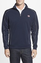 Cutter & Buck Men's Big & Tall 'New York Giants - Edge' Drytec Moisture Wicking Half Zip Pullover