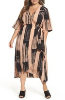 Melissa McCarthy Plus Size Women's Print Wrap Dress