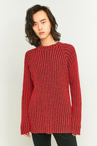Cheap Monday Jolt Skinny Red Ribbed Jumper