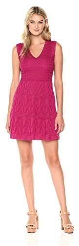 M Missoni Women's Solid Knit Vneck Dress