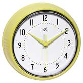 Infinity Instruments Ironwall Vintage Wall Clock Yellow