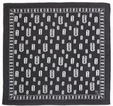 McQ by Alexander McQueen Razor Blade-Print Square Scarf, Black/White