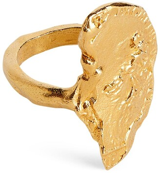 Alighieri Yellow Gold-Plated Silver Il Leone II Ring