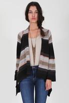 Goddis Evey Drape Sweater In Tannin M/L