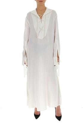 Ann Demeulemeester Lace-Up Maxi Dress