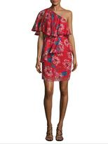 Nicholas Silk Floral Print Tiered Dress
