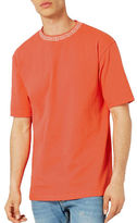 Topman Jacquard Neck Oversized T-Shirt