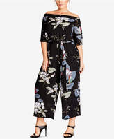 City Chic Trendy Plus Size Off-The-Shoulder Jumpsuit