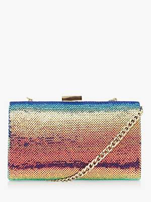 Dune Britneey Sequin Clutch Bag, Multi