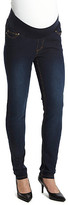Times 2 Women's Denim Pants and Jeans Dark - Dark Wash Under-Belly Maternity Skinny Jeans - Plus Too