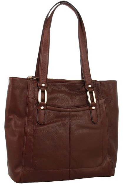 B. Makowsky Goodwin Tote (Brandy) - Bags and Luggage