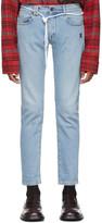 Off-White Off White Blue Diag Skinny Jeans