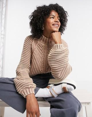 Free People sweetheart sweater in beige