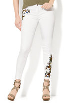 New York & Co. Soho Jeans - Embroidered Ankle - White