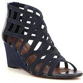 Donald J Pliner Jorda Elastic Caged Wedge Sandals
