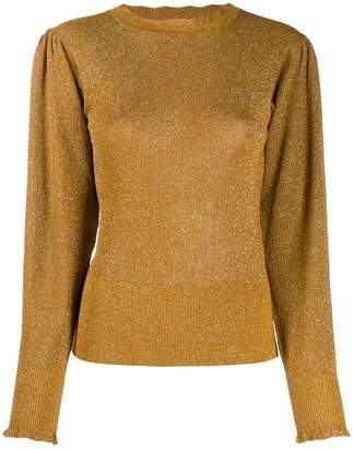 Isabel Marant ruched shoulders crew neck jumper